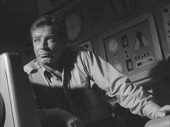 Richard Basehart as Nelson contemplates life and death on the ocean floor.